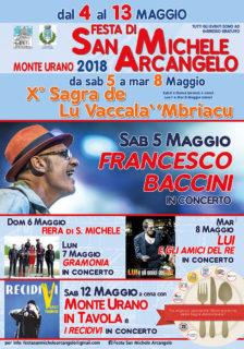 Festa di San Michele Arcangelo a Monte Urano - locandina