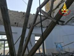 Crollo parziale del tetto dell'Istituto tecnico industriale Montani di Fermo