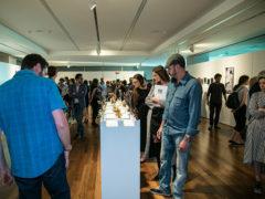 Visitatori alla Fondazione Dino Zoli per l'esposizione dei finalisti di Arteam Cup - foto Cristina Pautelli