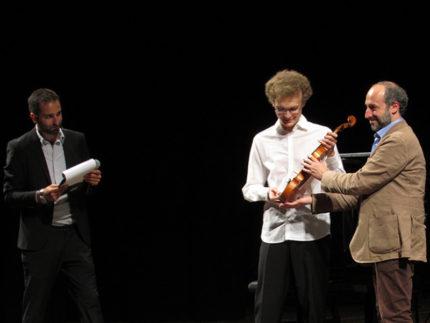 Dmytro Udovichenko premiato come vincitore del Concorso Violinistico Internazionale Postacchini 2018