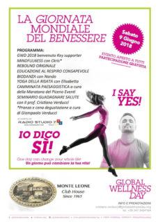 Giornata Mondiale del Benessere - evento a Monteleone di Fermo - locandina