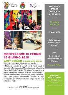 Artpower a Monteleone di Fermo - locandina