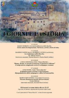 I giorni e la storia - festival a Monteleone di Fermo - locandina