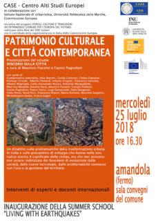 """Presentazione volume """"Discorsi sulla Città"""" ad Amandola - locandina"""
