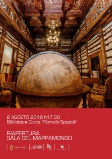 Riapre il 2 agosto 2018 la Sala del Mappamondo a Fermo