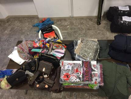 Merce contraffatta sequestrata a Porto San Giorgio