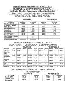 Orario autobus per trasporto gratuito ai cimiteri di Sant'Elpidio a Mare