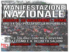Manifestazione antigoverno a Roma
