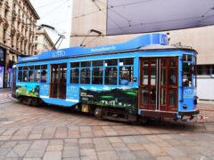 Promozione turistica delle Marche sui tram di Milano