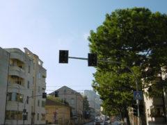 Semaforo su viale Trento a Fermo