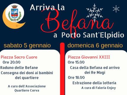 Arriva la Befana a Porto Sant'Elpidio