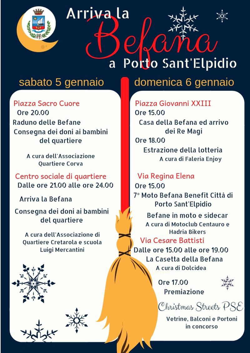 Arriva La Befana A Porto Santelpidio Locandina Fermo Notizie