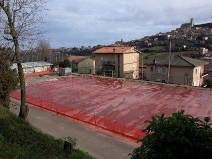 Lavori in corso all'ex-Tirassegno di Fermo