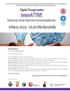 Convegno a Porto Sant'Elpidio: Donne che fanno innovazione - locandina