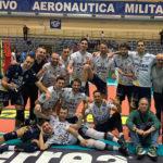 La M&G Videx Grottazzolina esulta dopo la vittoria contro il Club Italia Roma