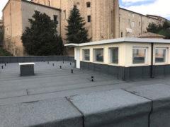 Lavori svolti sul tetto della Scuola primaria Sapienza di Fermo