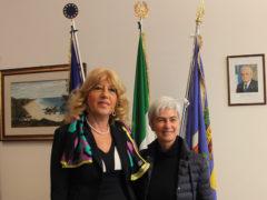 Il Prefetto di Fermo Vincenza Filippi e la Presidente della Provincia Moira Canigola