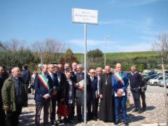 Intitolato all'ing. Francesco Zama il piazzale antistante la Chiesa di San Gabriele dell'Addolorata a Campiglione di Fermo
