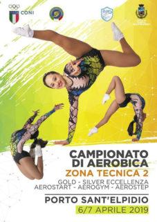 Campionati interregionali di ginnastica aerobica a Porto Sant'Elpidio - locandina