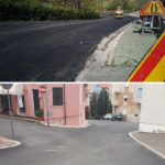 Lavori sulle strade di Montegranaro