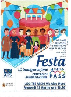 Lido Tre Archi: festa d'inaugurazione del Centro di Aggregazione per le progettualità sociali, sportive e ricreative - locandina