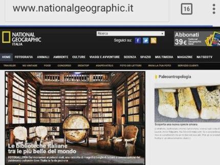 Biblioteca Spezioli e Sala del Mappamondo di Fermo sul sito del National Geographic