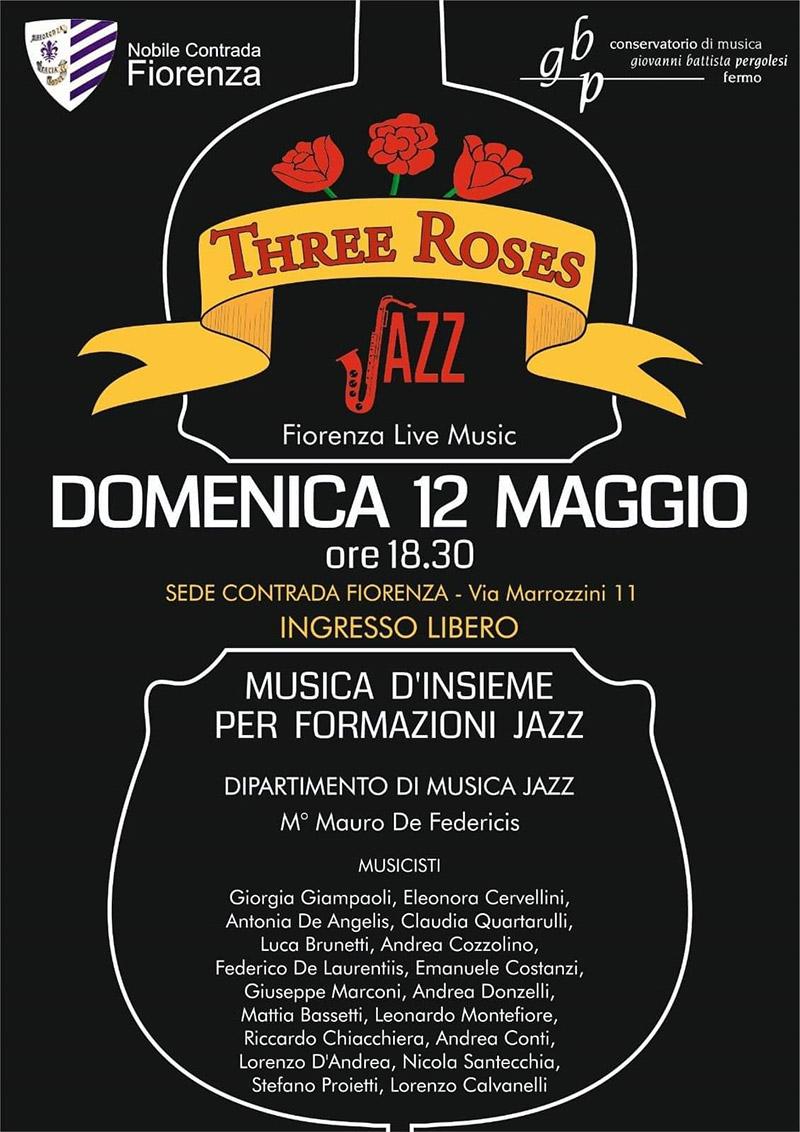 Three Roses Jazz - concerto a Fermo - locandina