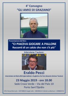 """4° Convegno """"Gli Amici di Graziano"""" - 23 maggio 2019 a Porto Sant'Elpidio"""