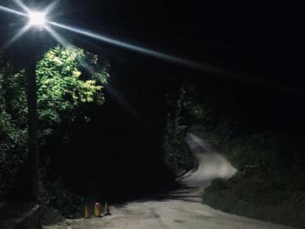 Illuminazione pubblica in via dello Stadio a Montottone