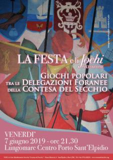 La Festa e li Jochi 2019 a Porto Sant'Elpidio - locandina