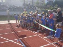 Taglio del nastro alla pista di atletica di via Leti a Fermo