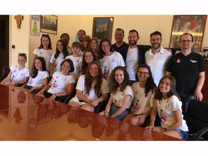 Le ragazze della Emmont Volley ricevute in Comune a Sant'Elpidio a Mare