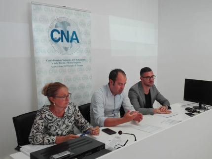 Incontro alla CNA di Fermo con Paolo Silenzi, Ermanno Traini e Irene Mancinelli