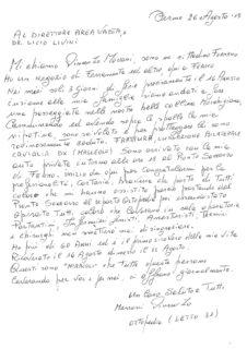 Lettera Vincenzo Morroni ad Area Vasta 4