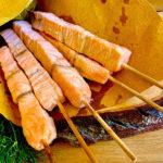 Arrosticini di salmone