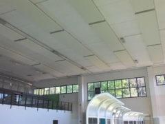 Impianto riscaldamento radiante a soffitto installato in palestra via Leti a Fermo
