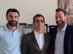 Romanelli e Terrenzi con l'ing. Raffaele Trobbiani