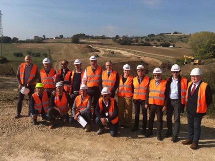 Sopralluogo Ceriscioli, Cesetti, Giacinti nel cantiere del nuovo ospedale di Fermo