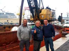 Dragaggio a Porto San Giorgio, incontro del sindaco Loira alla Carmar di Ancona