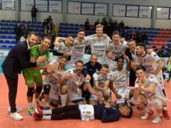 La M&G Videx Grottazzolina celebra la vittoria contro Alessano