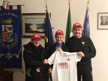 Moira Canigola incontra nuovo presidente Anmil Fermo, Marcello Luciani