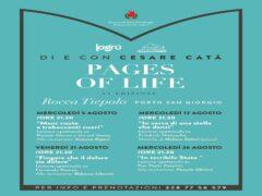 """Locandina della rassegna """"Pages of life"""""""