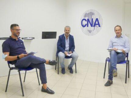 Renzo Interlenghi assieme ai vertici territoriali CNA