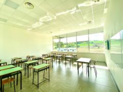 Aula scolastica realizzata al Fermo Forum