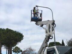 Lavori sull'illuminazione pubblica a Sant'Elpidio a mare