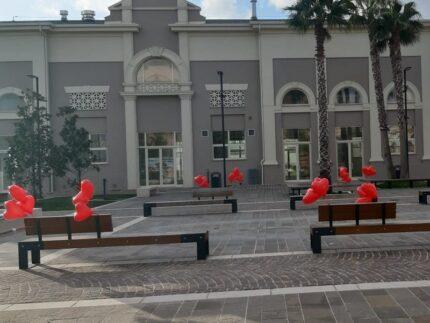 Installazioni per San Valentino a Porto Sant'Elpidio