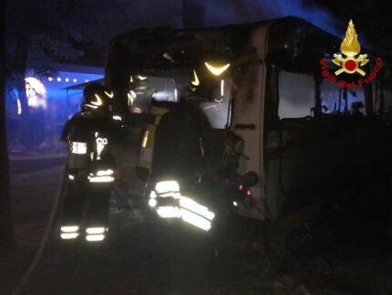 Incendio di una roulotte ad Altidona